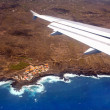 Royalty-Free Stock Photo: Aerial view from airplane of La Palma