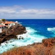 La Palma Santa cruz volcanic atlantic coast — Stock Photo
