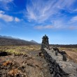 La Palma lava stone fence column in Fuencaliente — Stock Photo