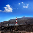 La Palma Fuencaliente lighthouse in saltworks — Stock Photo