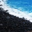 Royalty-Free Stock Photo: Atlantic volcanic black coast in la Palma