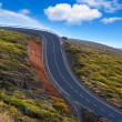 Green mountain winding road dangerous curves — Stock Photo #13304419