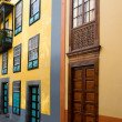 Santa Cruz de La Palma colonial street house — Stock Photo