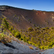 Crater La Palma San Antonio volcano Fuencaliente — Stock Photo