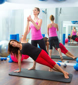 Aerobic Pilates personal trainer instructor women — 图库照片