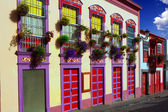 Santa Cruz de La Palma colonial house facades — Stock Photo