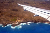 Aerial view from airplane of La Palma — Stockfoto