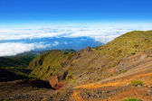 Caldera de Taburiente sea of clouds La Palma — Stock Photo