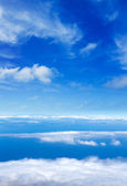 Blue sky sea of clouds from high altitude — Stock Photo