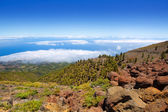 La Palma Caldera de Taburiente sea of clouds — Stock Photo