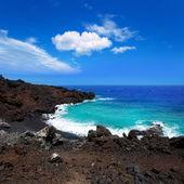 Atlantic volcanic black coast in la Palma — Stock Photo