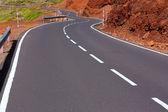 Canarische eilanden kronkelende weg curven in bergen — Stockfoto