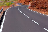 Canary Islands winding road curves in mountain — Stock Photo