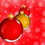 Рождественские Фенечки шары в Золотой красный — Стоковое фото