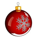 Christmas bauble ball in golden red — Stock Photo