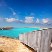 Beach Illetas Illetes in Formentera near Ibiza — Stock Photo