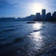 Cantal roig beach in blue sunset at Calpe in Alicante — Stock Photo