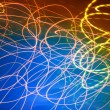 Abstract motion blurred lights on blue — Stock Photo #13832243