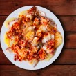 Pulpo a la gallega octopus spanish recipe - Foto Stock