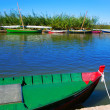 Albufera channel boats in el Palmar of Valencia — Stock Photo