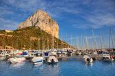 Calpe in Alicante mit Penon Ifach Berg — Stockfoto