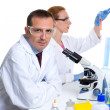 Chemical laboratory with two scientist working — Stockfoto