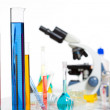 Chemical scientific laboratory stuff test tube flask - Stock Photo