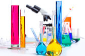 Chemical scientific laboratory stuff test tube flask — Stock Photo