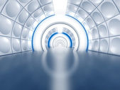 Futuristic tunnel like spaceship corridor — Foto de Stock