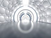 Futuristic tunnel like spaceship corridor — Stock Photo