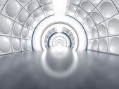 Futuristic tunnel like spaceship corridor — Stock Photo
