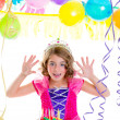 Stock Photo: Child kid crown princess in birthday party