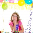 Child kid crown princess in birthday party — Stock Photo #18426627