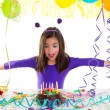 Asian child kid girl in birthday party — Stock Photo
