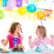 Children kid in birthday party dancing happy laughing — Stock Photo #18428093