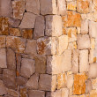 Masonry stone wall corner detail construcion work - Stock Photo