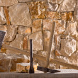 Hammer tools of stonecutter masonry work — Stock Photo #19539749