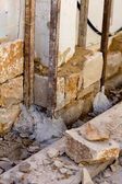Masonry stone wall construcion process traditional — Stock Photo
