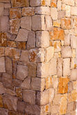 Masonry stone wall corner detail construcion work — Stock Photo