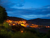Cuenca Village San Martin de Boniches at night — Stock Photo