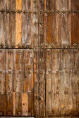 Antique church wood door in Canete Cuenca Spain — Stock Photo