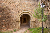 Canete Cuenca puerta San Bartolome stone fort Spain — Stock Photo