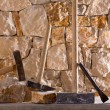 Stock Photo: Hammer tools of stonecutter masonry work