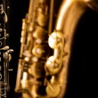 Royalty-Free Stock Photo: Classic music Sax tenor saxophone and clarinet in black