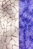 壊れたタイル モザイク地中海から典型的な trencadis — ストック写真