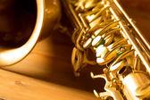 Sax golden tenor saxophone vintage retro — Stock Photo