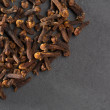 Cloves spice macro closeup on black — Stock Photo