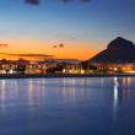 Alicante Javea sunset beach night view — Stock Photo