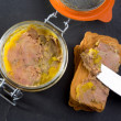 Canard Foie gras Pate made of the liver of a duck - Stock Photo