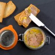 Canard Foie gras Pate made of the liver of a duck — Stock Photo